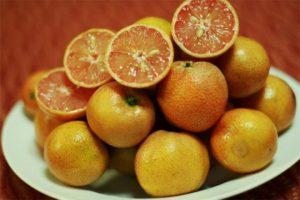 Chanh đào có ruộ màu hồng cam